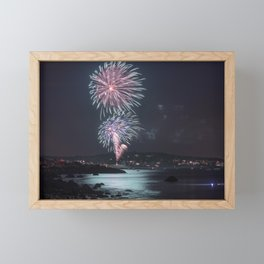Rockport Firework at Old Garden Beach Framed Mini Art Print
