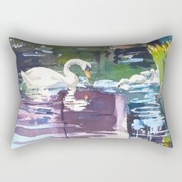 Swan Lake Rectangular Pillow