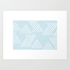 The Mountain Top - in Sky Art Print