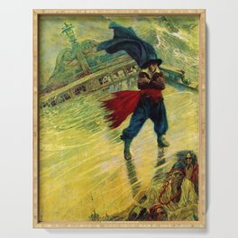 """""""The Flyin Dutchman"""" by Howad Pyle Serving Tray"""