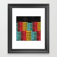 Rows of Houses  Framed Art Print