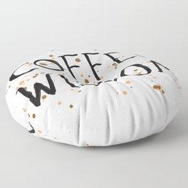 Coffee Wisdom Floor Pillow