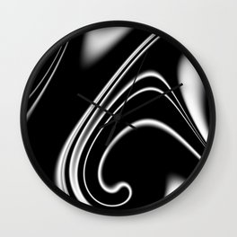 black and white -b- Wall Clock