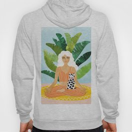 Meditation With Thy Cat #illustration #painting Hoody