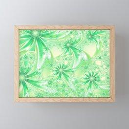 Pastel Green Wildflowers Framed Mini Art Print