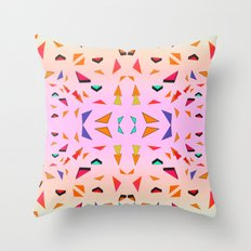 Triangle Tropical Confetti  Throw Pillow