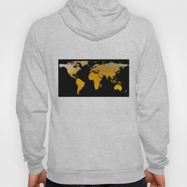 World Map Silhouette - Beer Hoody