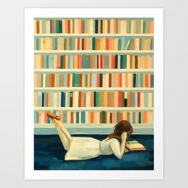 I Saw Her In the Library Art Print