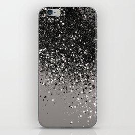 Silver Gray Glitter #1 #shiny #decor #art #society6 iPhone Skin