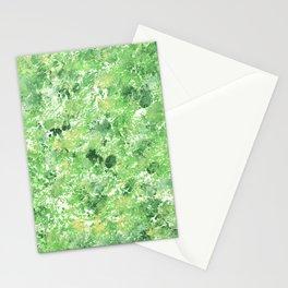 Spring Camo Green Print, Grass, Nature Stationery Cards
