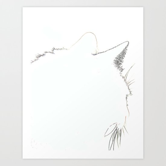 Cat Silhouette 02 Art Print