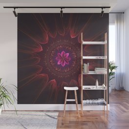 Blossom Within in Red Wall Mural