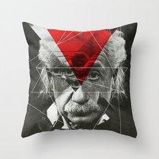 Albert E Mix 3c Throw Pillow