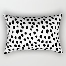 Hand drawn drops and dots on white - Mix & Match with Simplicty of life Rectangular Pillow
