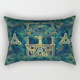 Tree of life - Yggdrasil with Triquetra  symbols Rectangular Pillow
