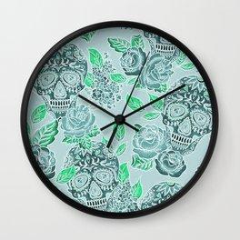 Day of the Dead Skull Pattern Wall Clock