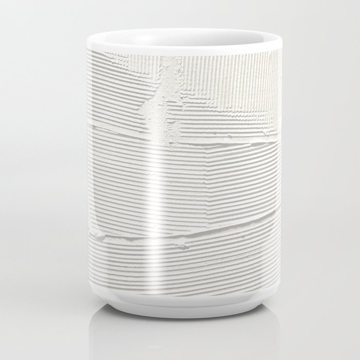 Relief [1]: an abstract, textured piece in white by Alyssa Hamilton Art Coffee Mug