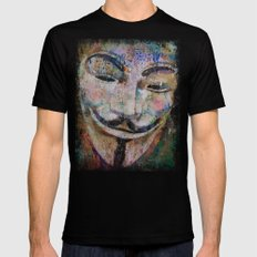 Anonymous Black LARGE Mens Fitted Tee