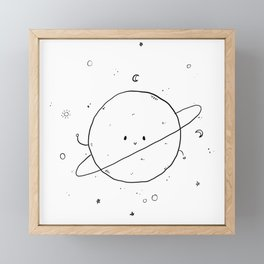 Happy Planet Framed Mini Art Print