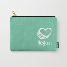 Vegan from the heart Carry-All Pouch