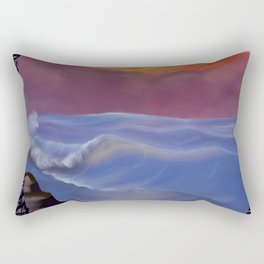 A Pastel Seascape Rectangular Pillow