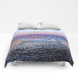 Viking Ice Ship Portrait Comforters