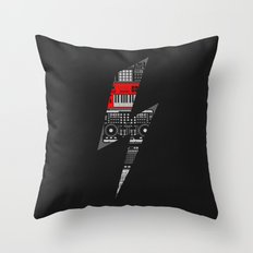 Electro Music  Throw Pillow