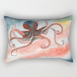 Octopus Watercolor Rectangular Pillow