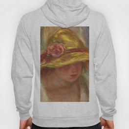 "Auguste Renoir ""Etude de femme au chapeau jaune"" Hoody"