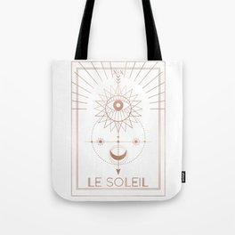 Le Soleil or The Sun Tarot White Edition Tote Bag