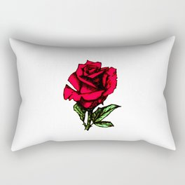 Rose Pyrography c. Rectangular Pillow