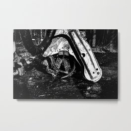 Poltery Site (Wood Storage Area) After Storm Victoria Möhne Forest 10 bw Metal Print