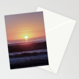 Colorful sunset at a beach Stationery Cards