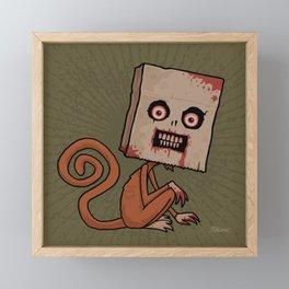 Psycho Sack Monkey Framed Mini Art Print