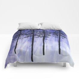 Lavender Pine Trees Comforters