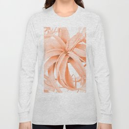Coral Color Air Plant White Background #decor #society6 #buyart Long Sleeve T-shirt