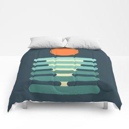 Minimalist ocean Comforters