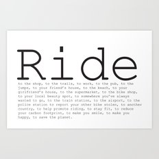 Ride To... Art Print