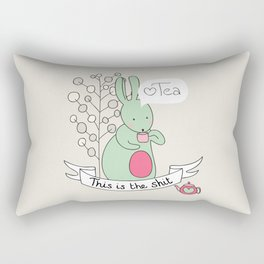 Tea Bunny Rectangular Pillow