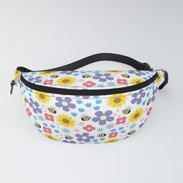 Flowers and Bees Fanny Pack