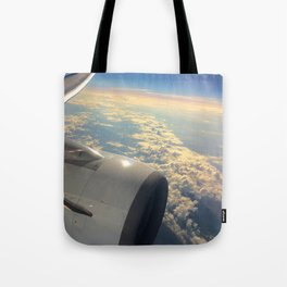 Sun And Clouds From Plane Tote Bag