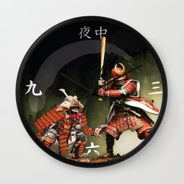 Samurai Warriors Baseball Furies Wall Clock
