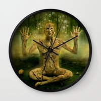 the cure Wall Clocks featuring Magic forest cure by teddynash
