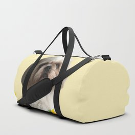 Paul Top Model - Shih tzu dog - Sunflower leaves Duffle Bag