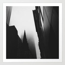 Midtown Fog, NYC Art Print