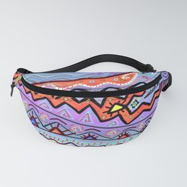 Summer Camp Tribal Colorful Geometric Drawing Fanny Pack