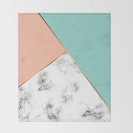 Marble Geometry 056 Throw Blanket