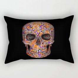Unique floral Sugarskull Rectangular Pillow