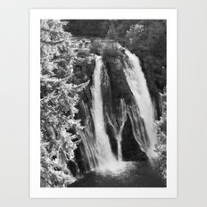 Places in Black & White: Burney Falls 1 Art Print
