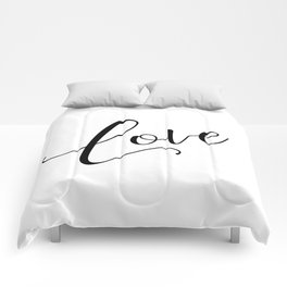 Love in black and white Comforters